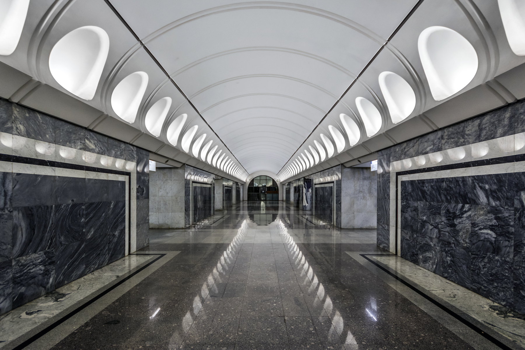 Dostoyevsky, a new station that opened in June 2010, was named after a prominent 19th century literary figure.