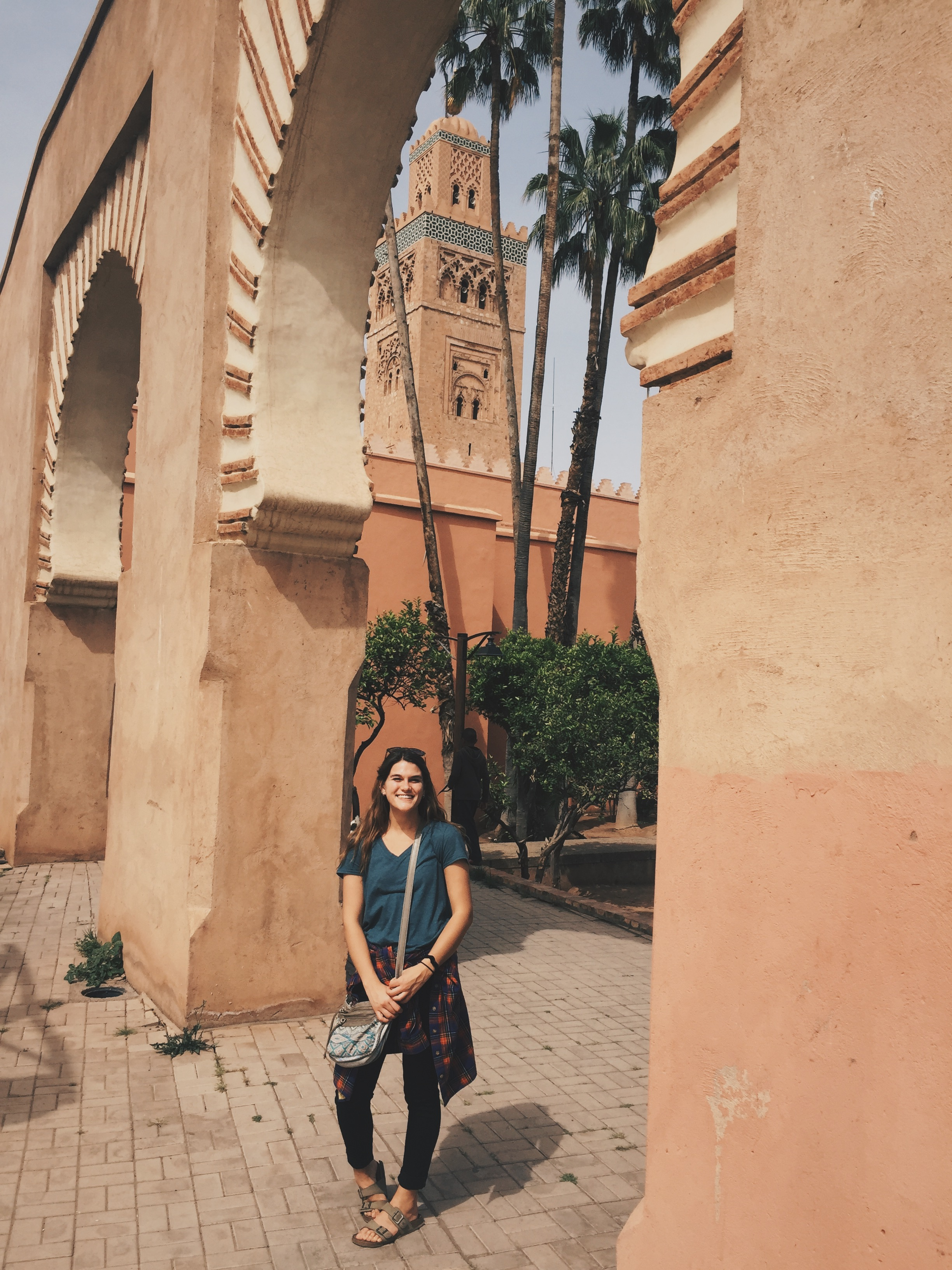Maggie O'Brien ('19 psychology and Spanish) studied abroad in Cáceres, Spain. This photo was taken in Marrakech, Morocco.