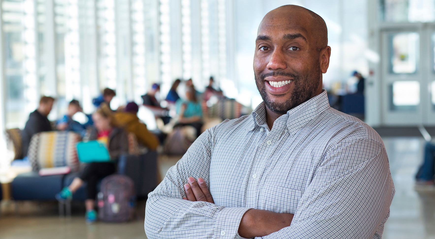 Michael Young, assistant professor of mathematics. Photo by Chris Gannon.