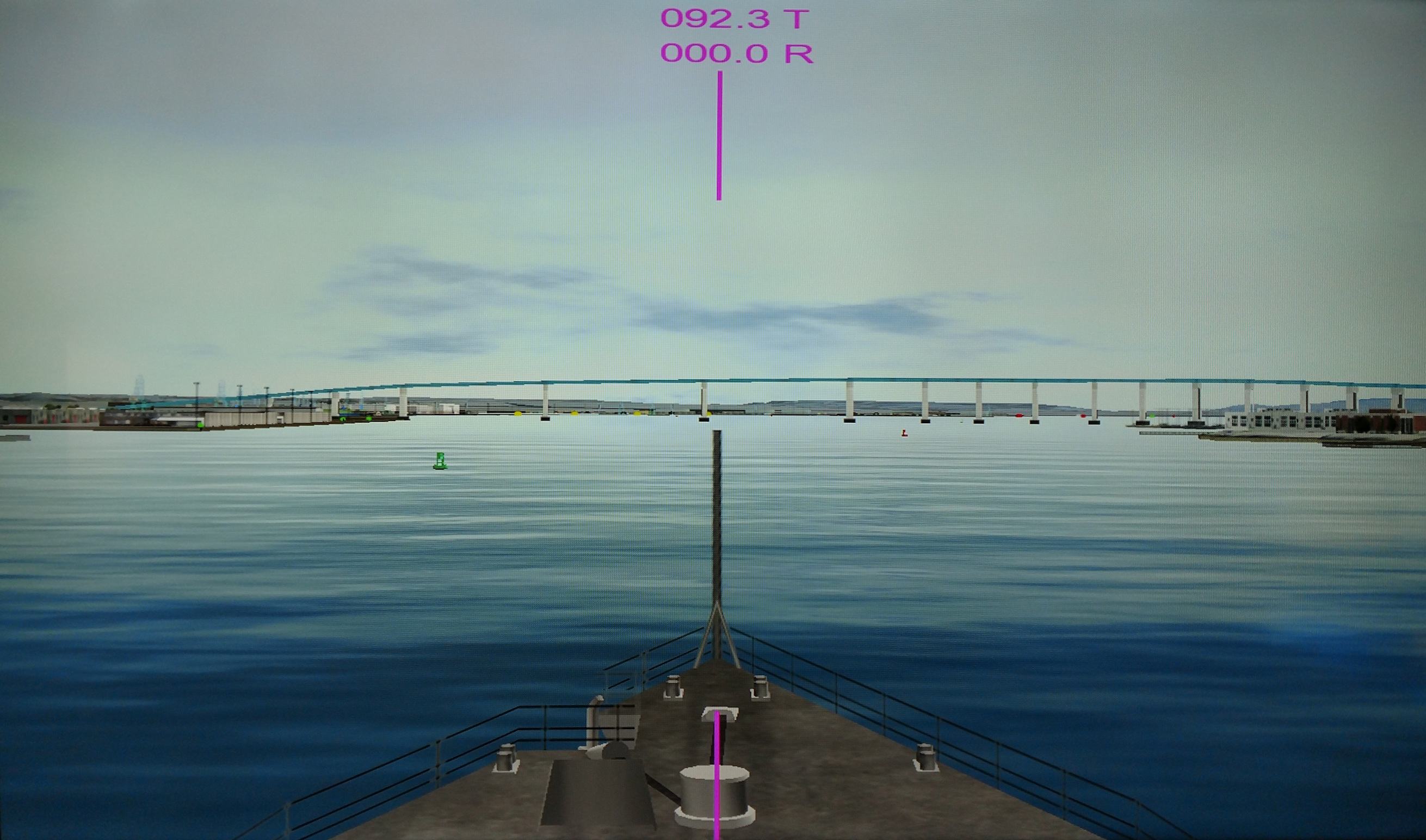 A view of the Port of San Diego as shown in a virtual reality system.
