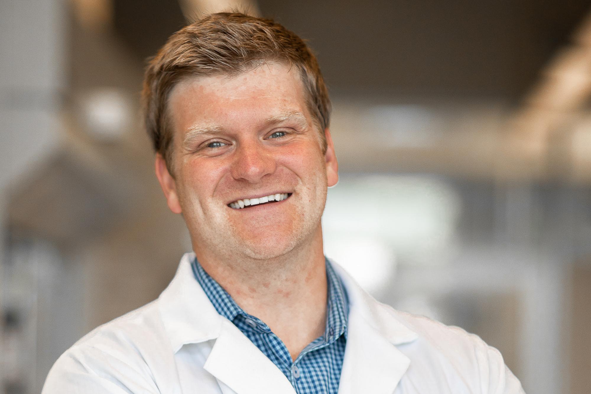 Brett Van Veller, assistant chemistry professor and principal investigator of the VanVeller Lab