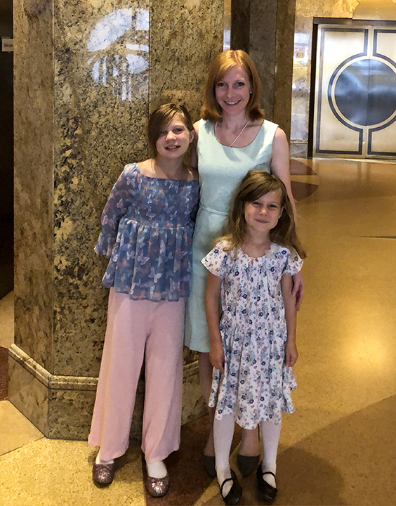 Becky Heller with her two daughters