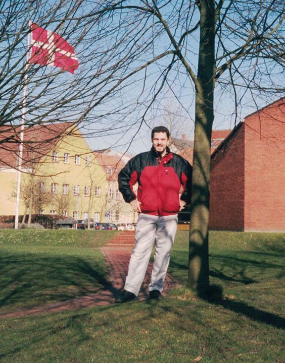 Jacob Larsen, director of the Language Studies Resource Center, poses in 2002 in Denmark