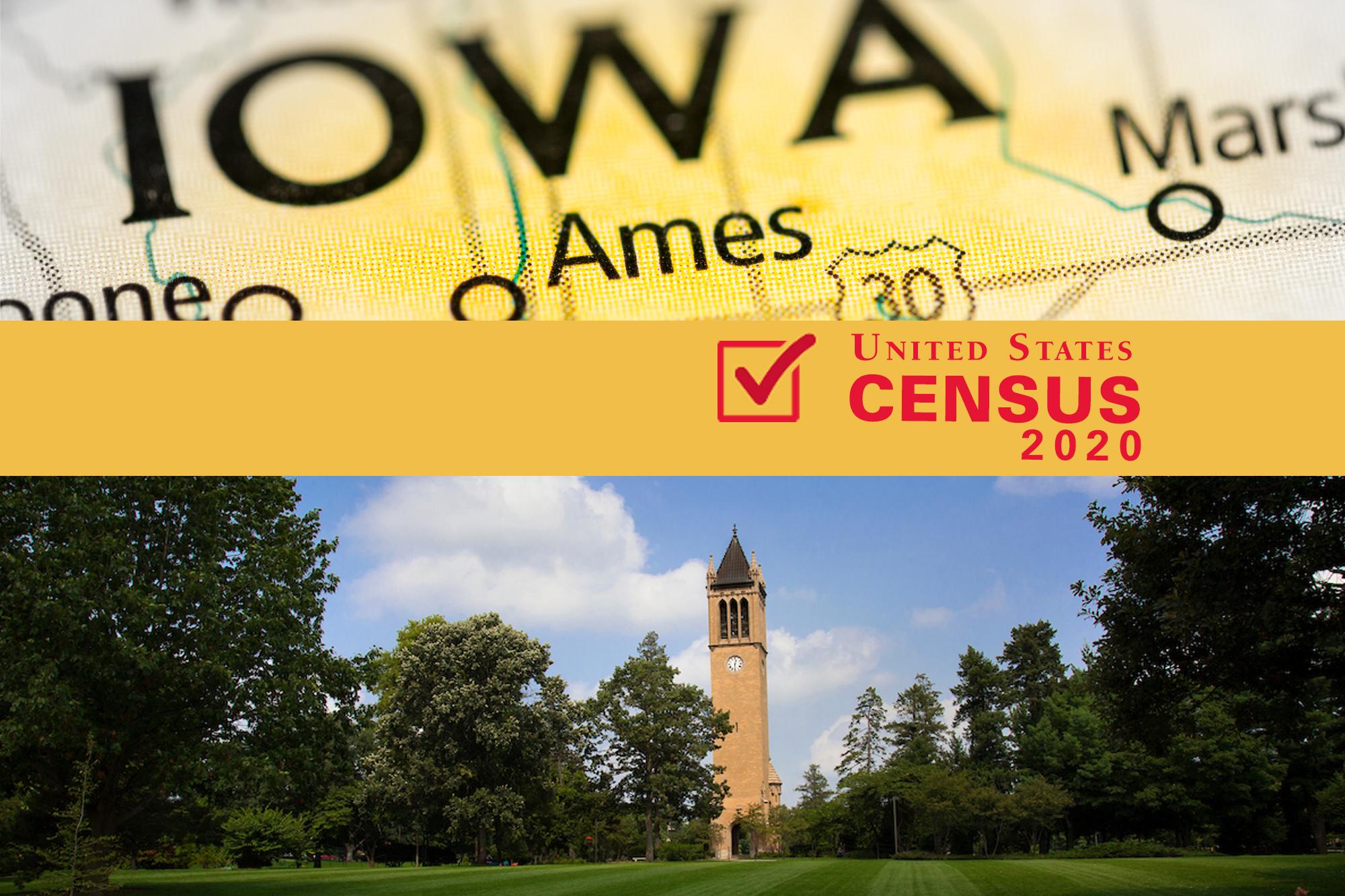 Graphic of Iowa State, Ames, U.S. Census