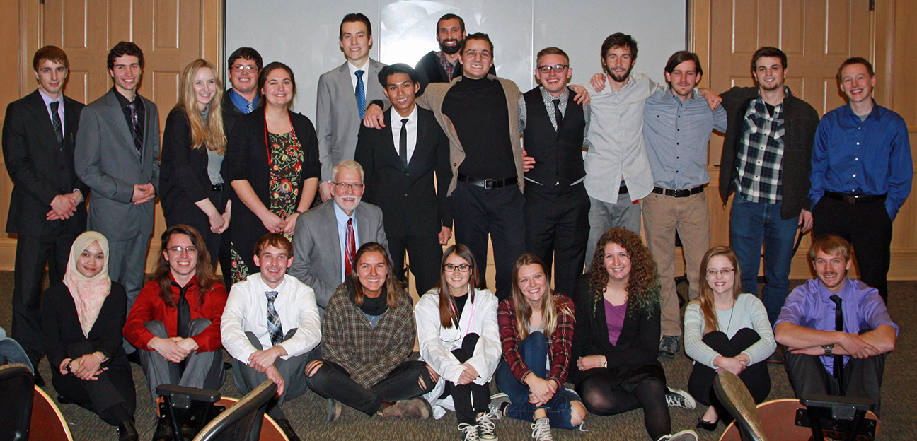 Senior/graduate level hydrogeology class mock trial participants will Bill Simpkins, Department of Geological and Atmospheric Science professor and department chair.