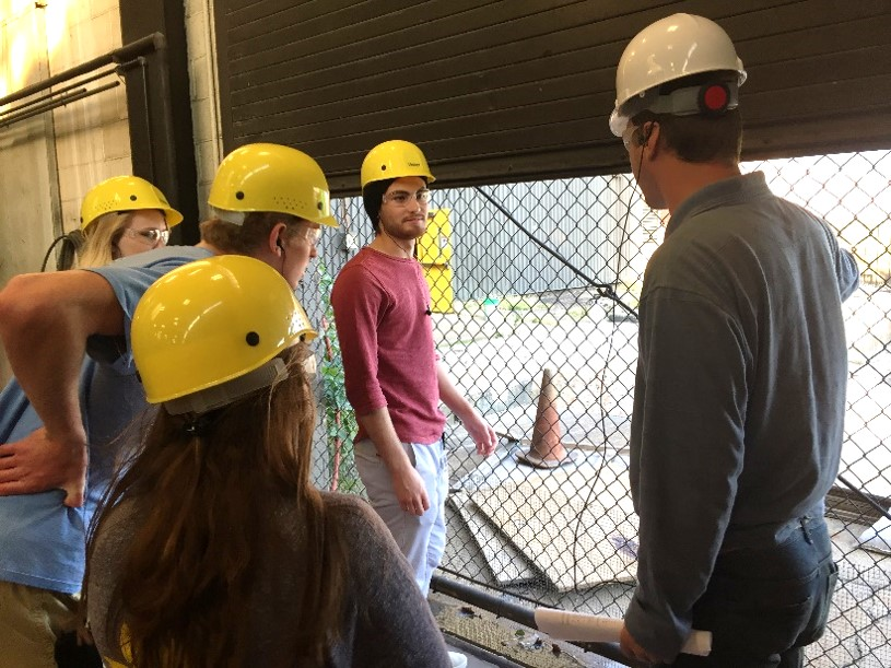 "Students from the ""Opportunities Presented by Climate Change"" learning team toured and learned about the Iowa State Power Plant. Photo credit: Olivia De Kok"