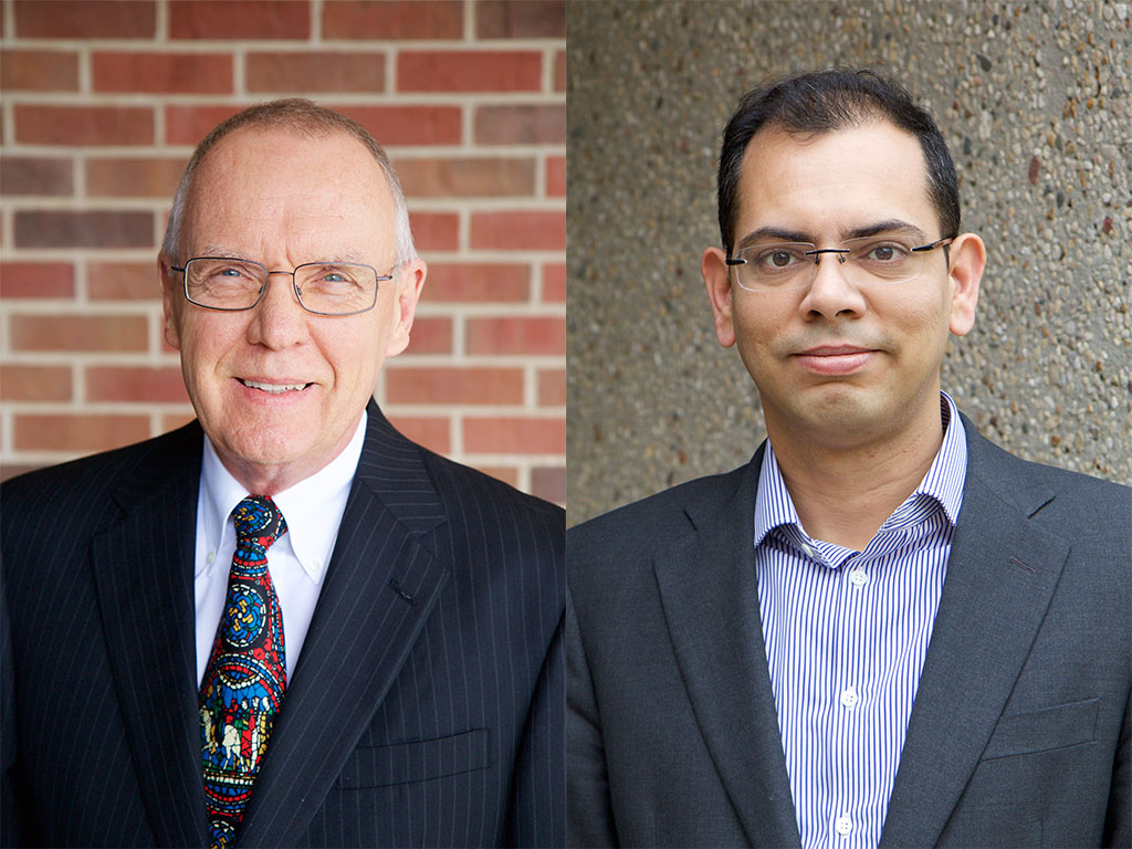 Stephen Vardeman (left) and Hridesh Rajan (right) will be awarded named faculty positions for their research in data science.