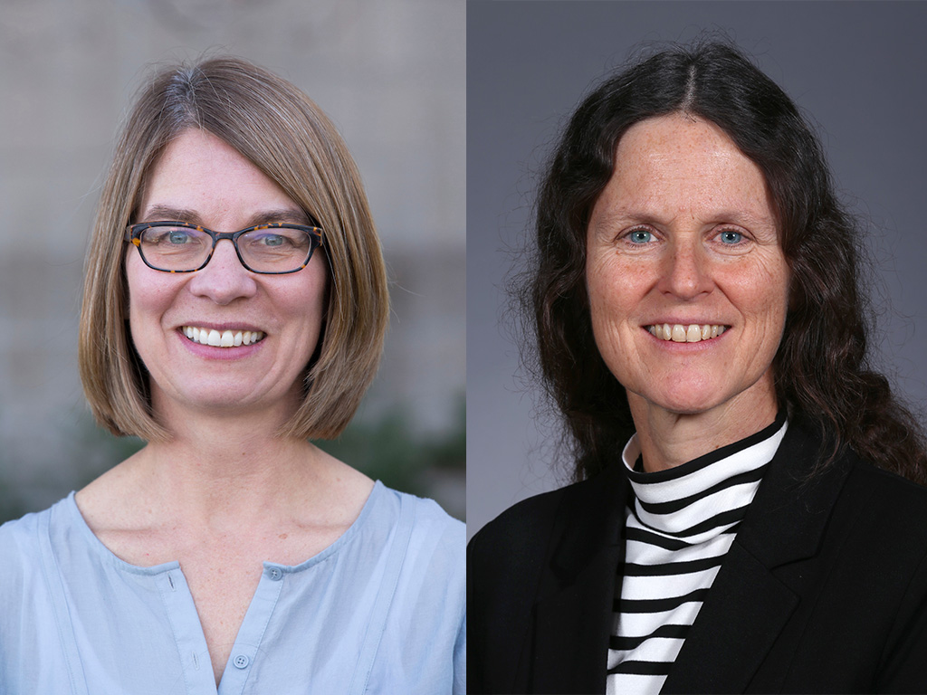 Amy Andreotti (left) and Kristen Johansen (right) received Roy J. Carver awards that will support their research in the Roy J. Carver Department of Biochemistry, Biophysics and Molecular Biology.