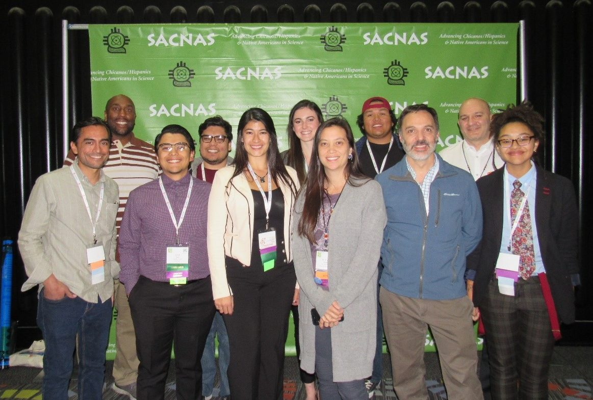 Students and faculty members attending the SACNAS Conference.