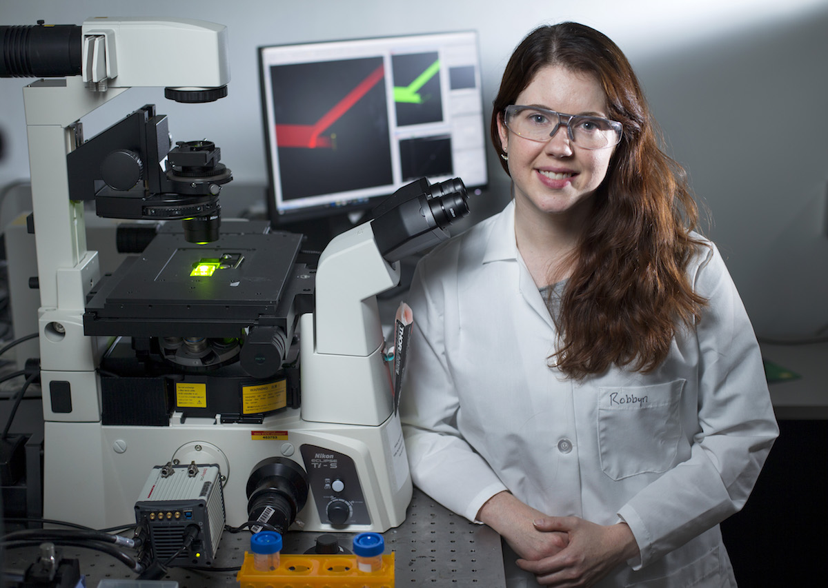 Robbyn Anand in her research lab.