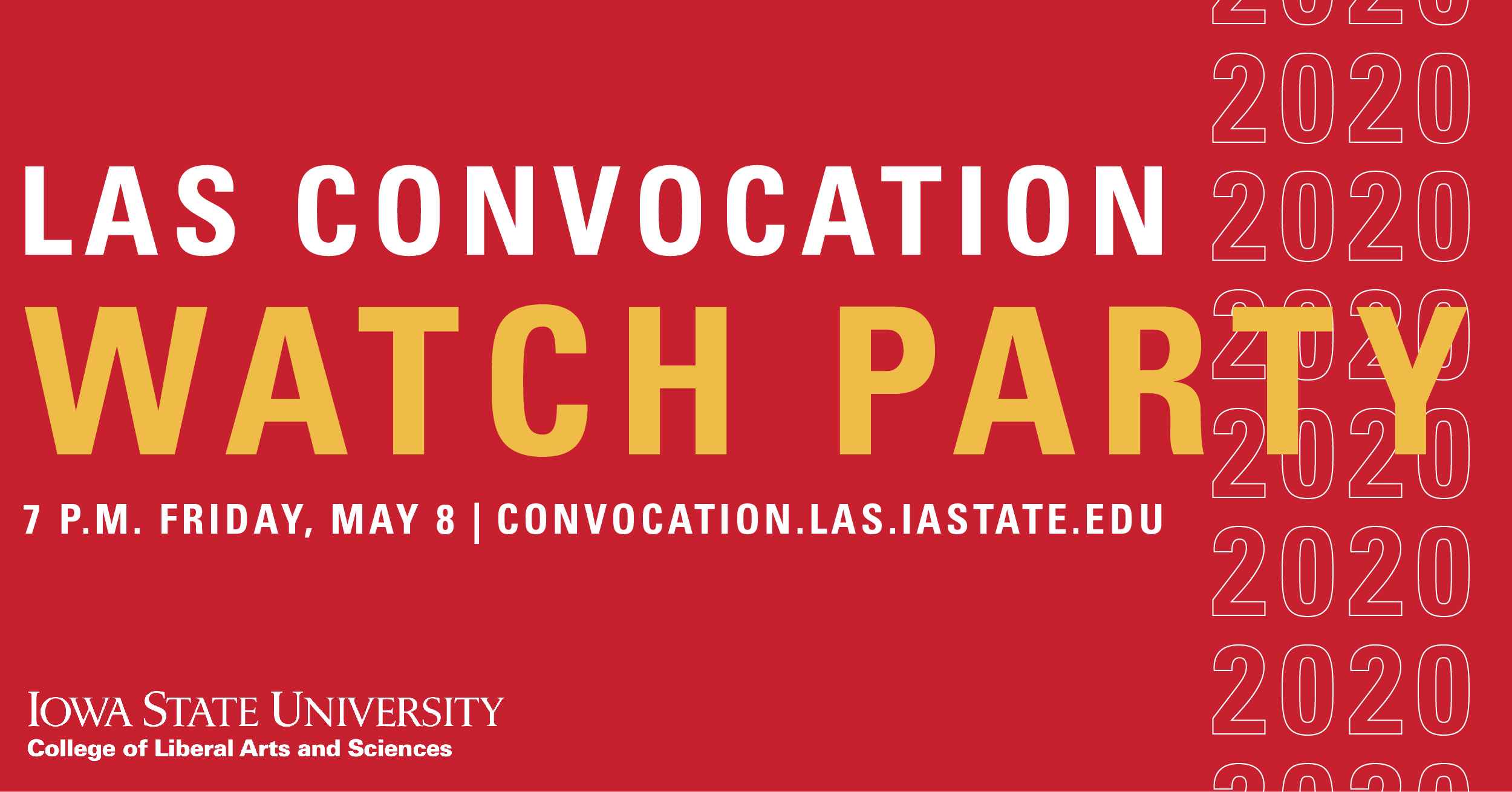 Convocation Watch Party graphic