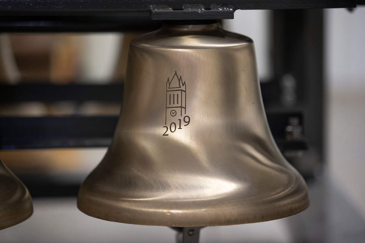 A bell from the campanile-carillon model.
