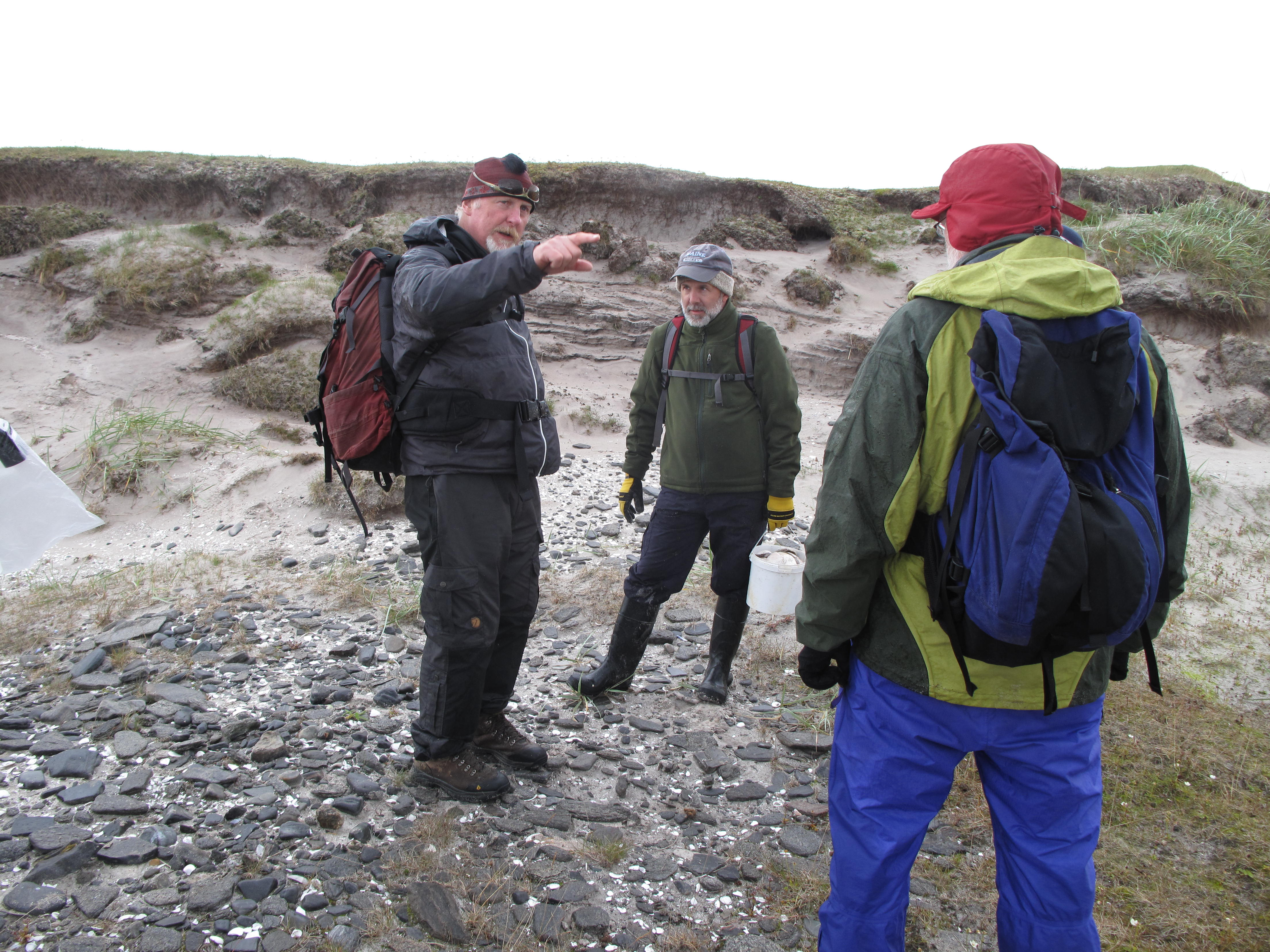 Mike, Will, and Al discuss beach deposits