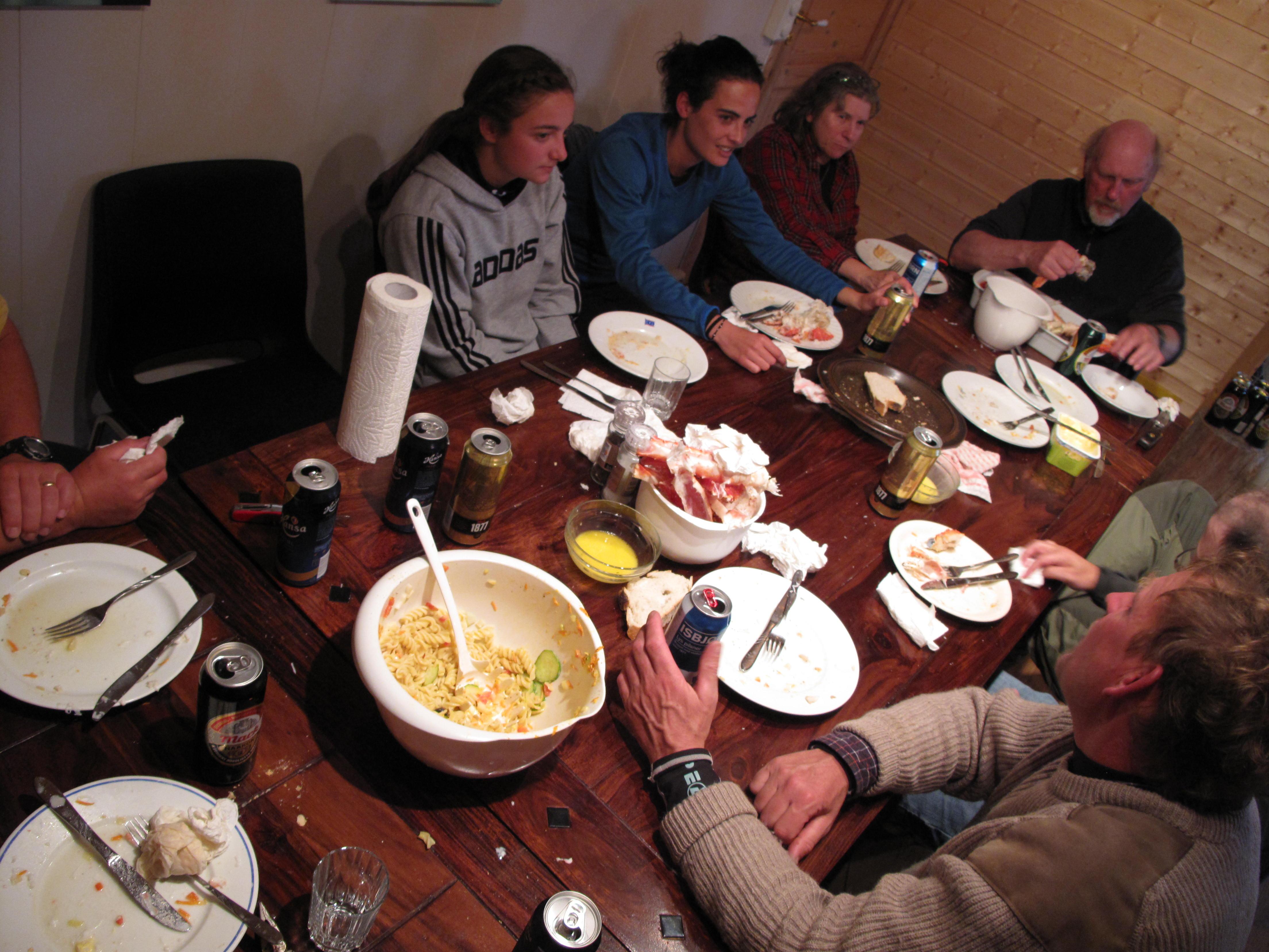 The aftermath of the Kongekrabbe feast
