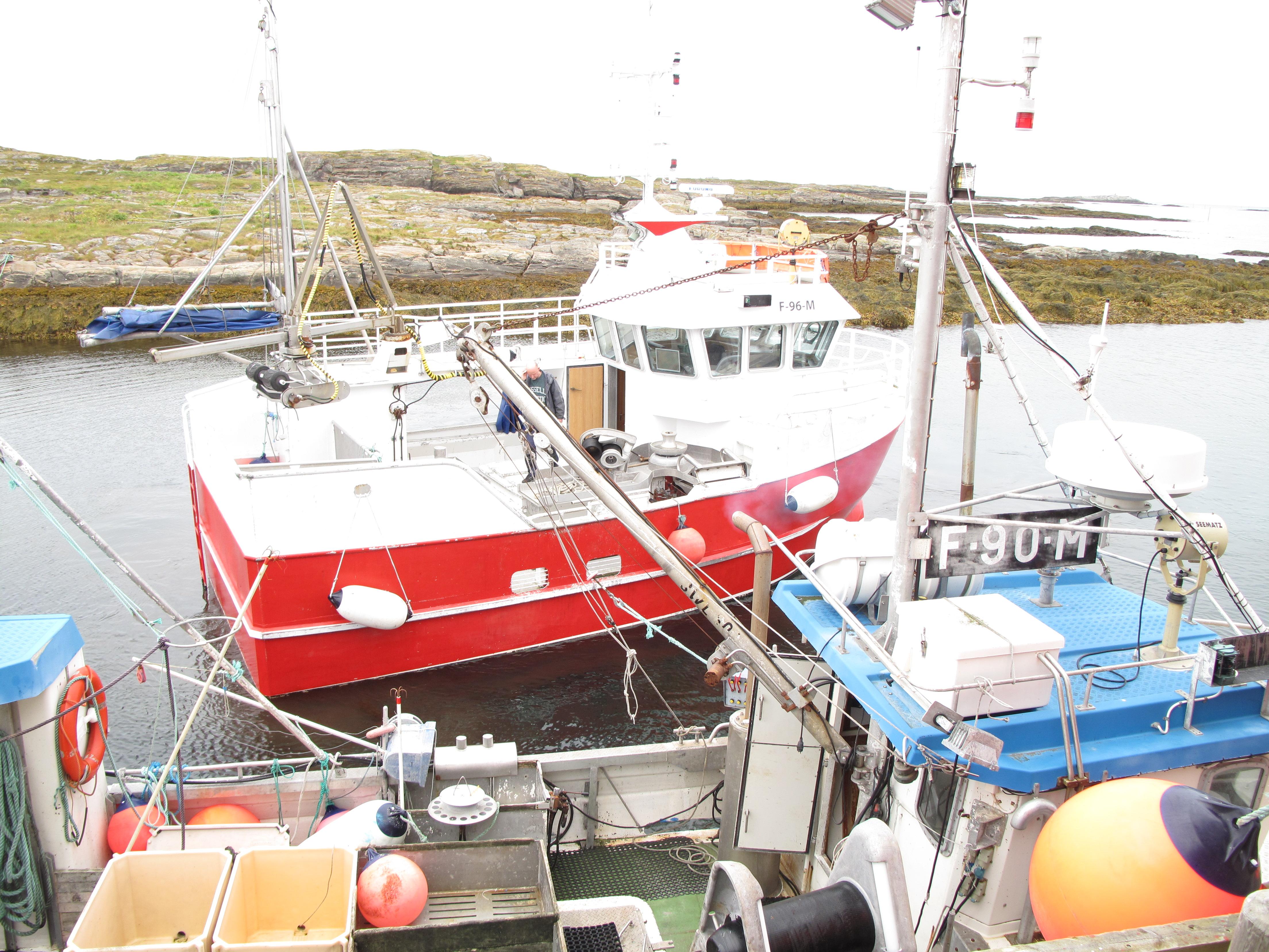 (far) Erlend's boat, (near) Thorleif's boat