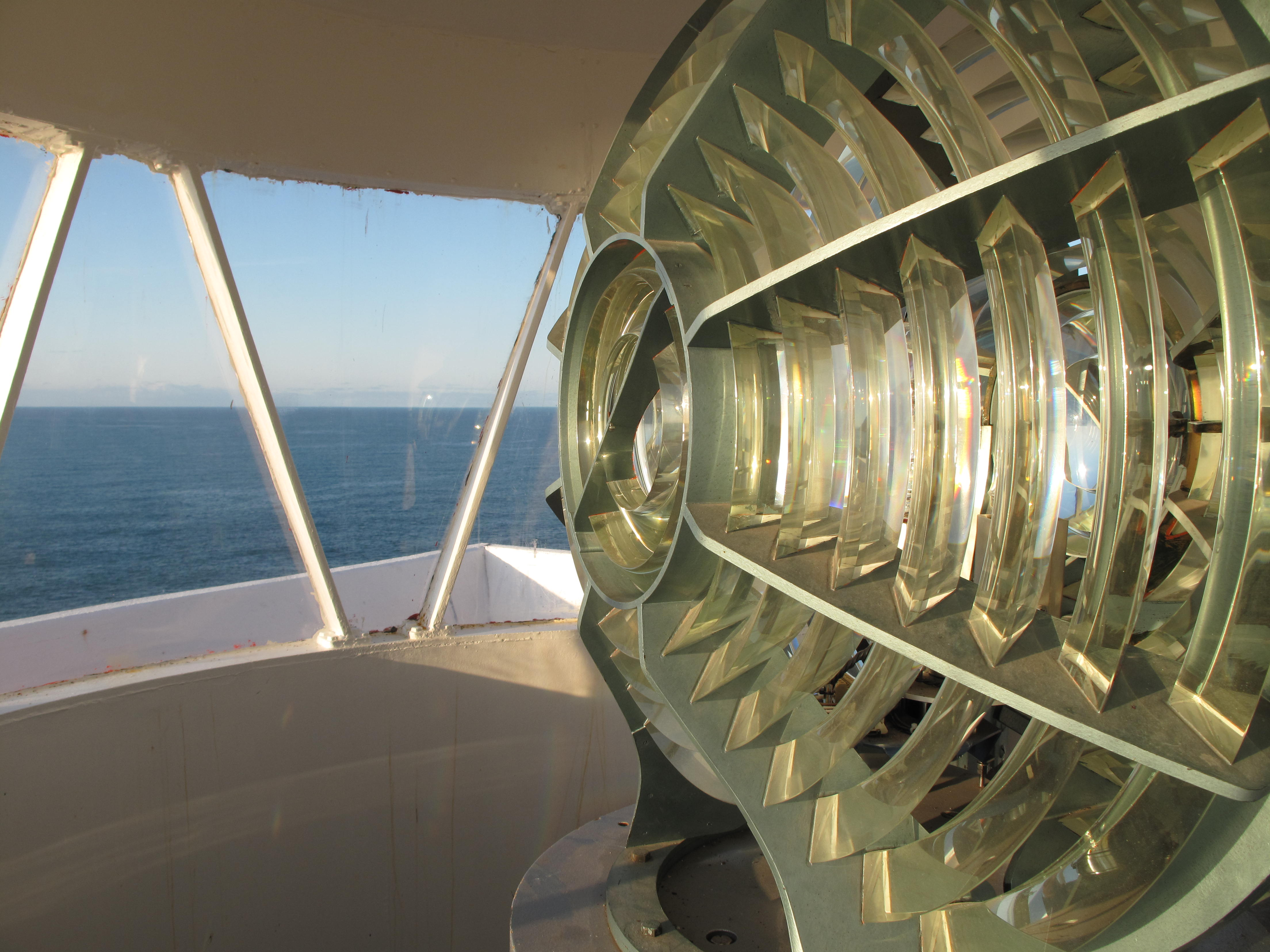 View inside lighthouse