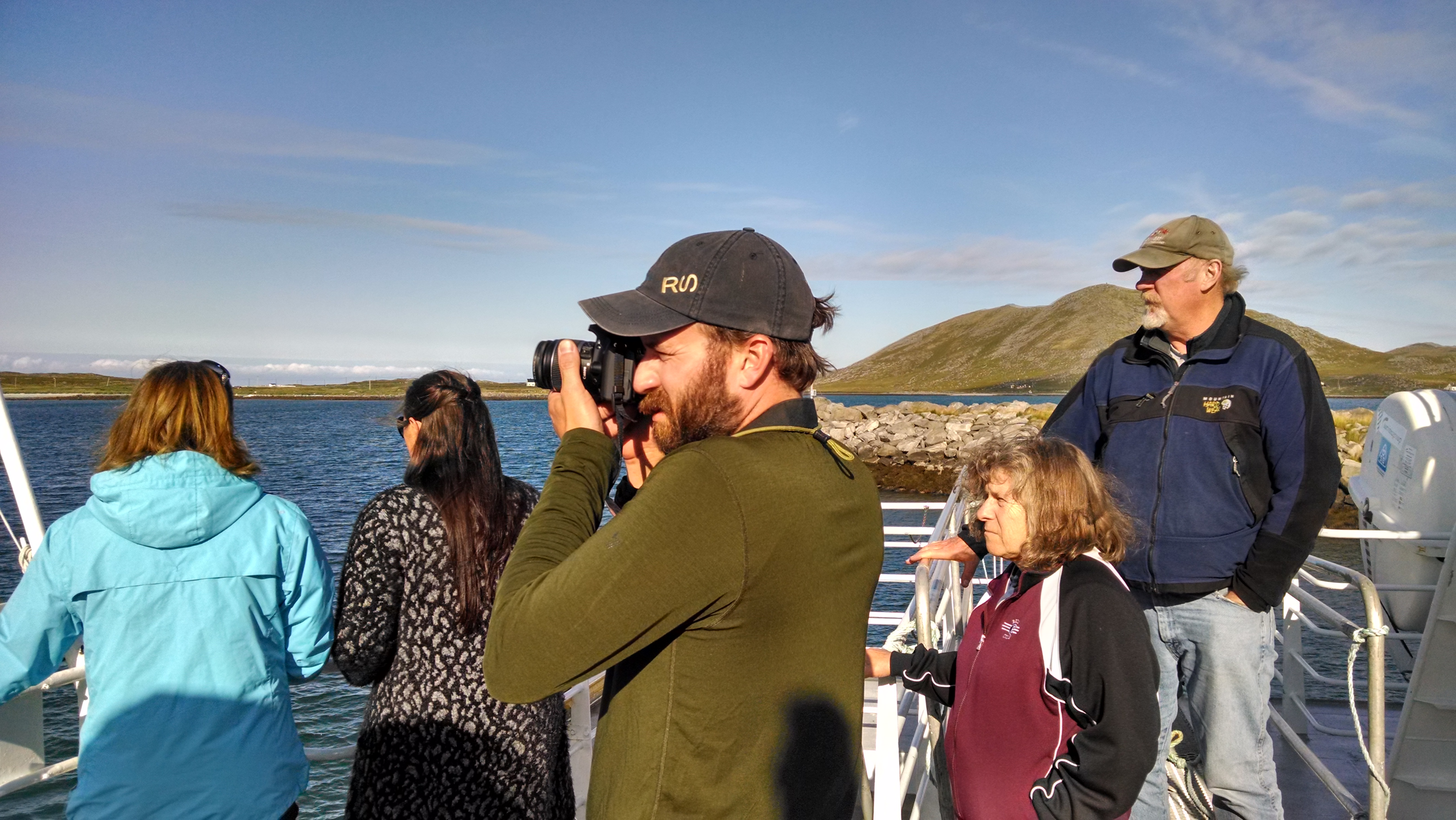 Dan takes some shots en route to Ingøy