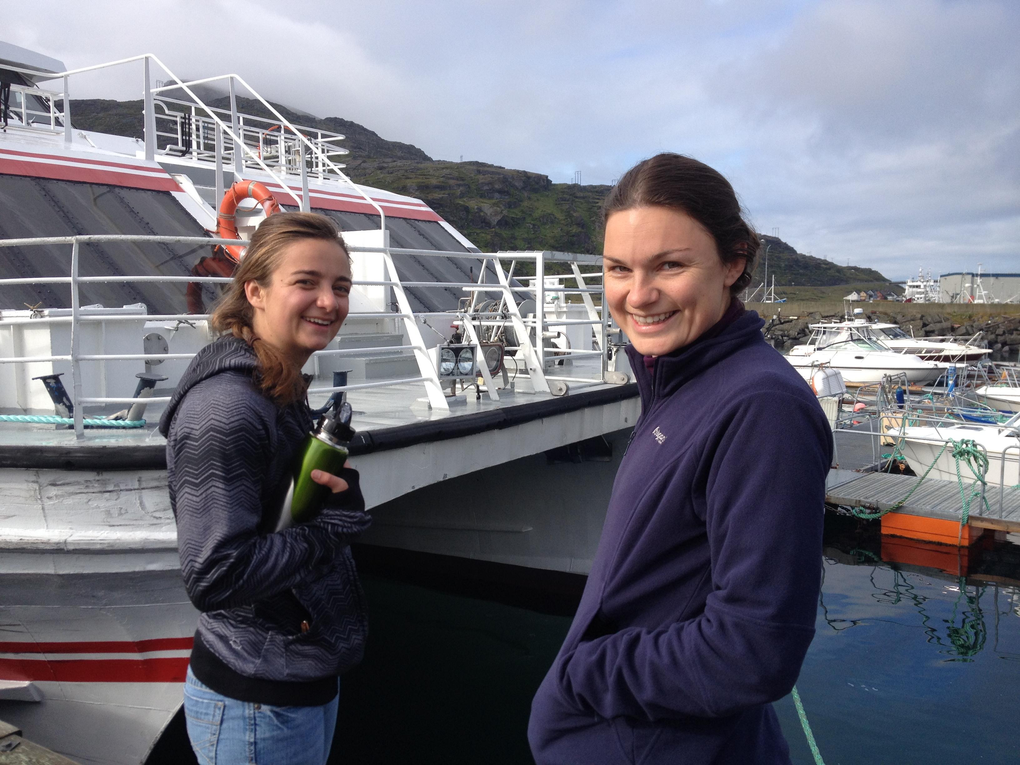 Maddie and Aubrey in Havøysund
