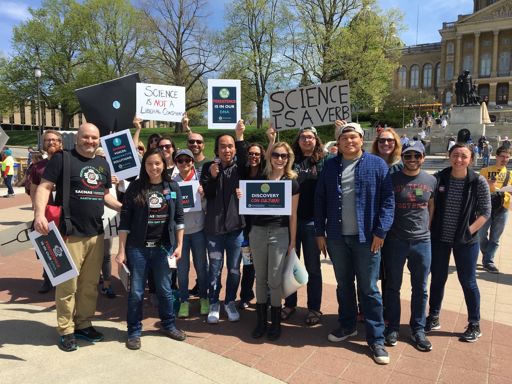 March For Science 2017. STEM Scholars along with ISU SACNAS members and Keynote speaker, Dr. Tracy Heath