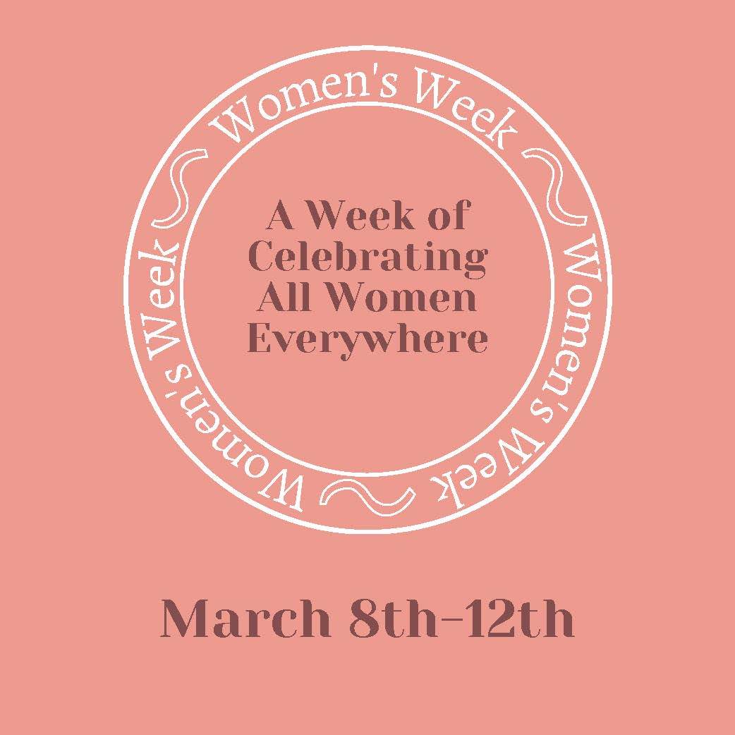 logo of Women's Week, March 8-12